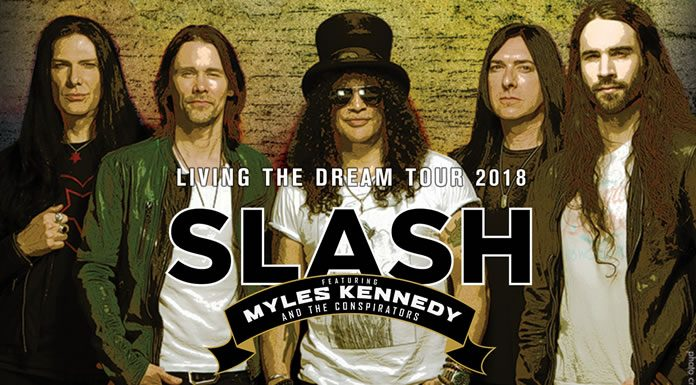 Slash Lanza ''Driving Rain'' Nuevo Sencillo De ''Living The Dream''